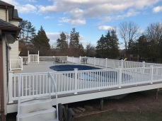 Large deck to accommodate pool in Frenchtown