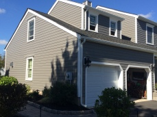 Completed James Hardie siding installation