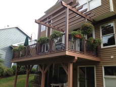 Elevated Deck And Pergola