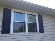 Twin Double Hung Window With Decorative Glass